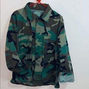 Military Issued Camo | Heavy Utility Jacket Coat